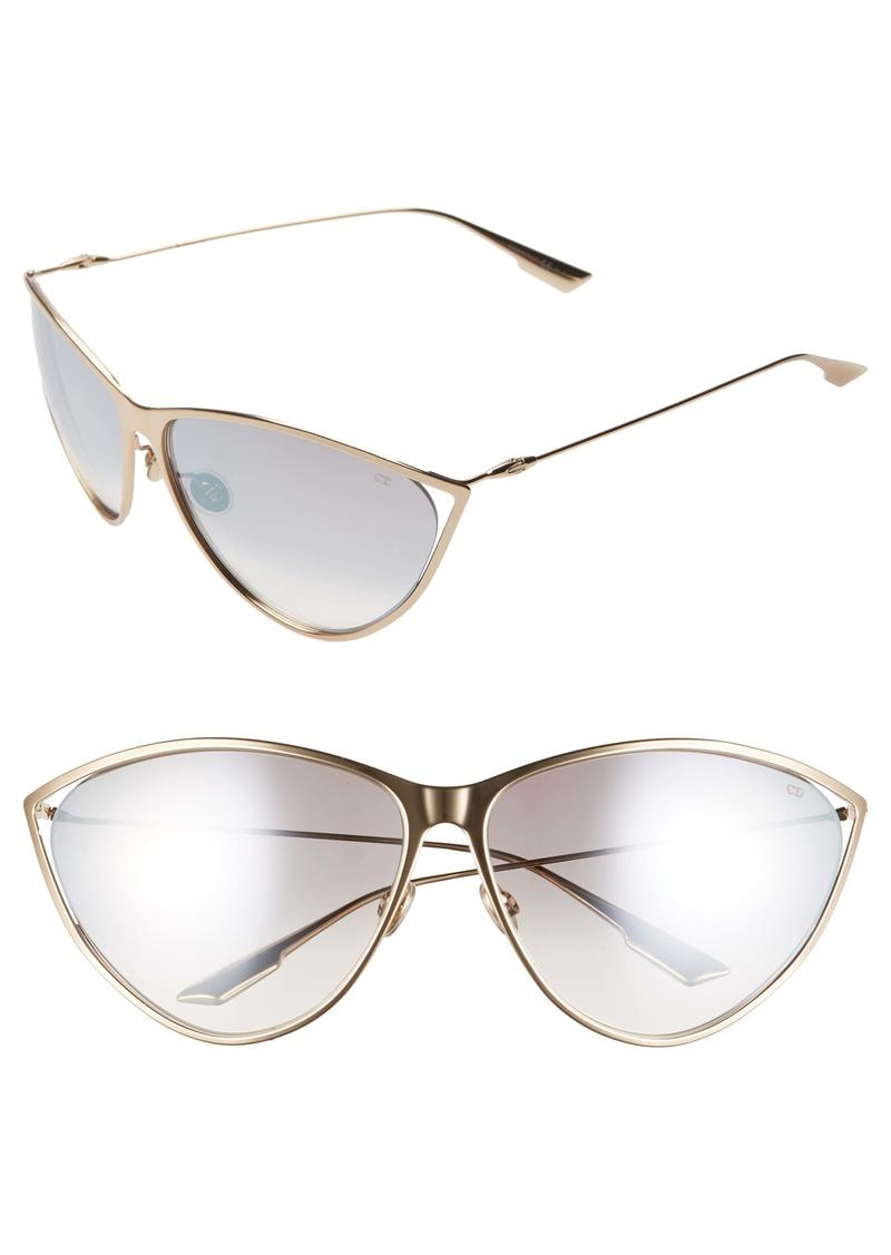 Christian Dior Dior Newmotards 65mm Oversize Cat Eye Sunglasses