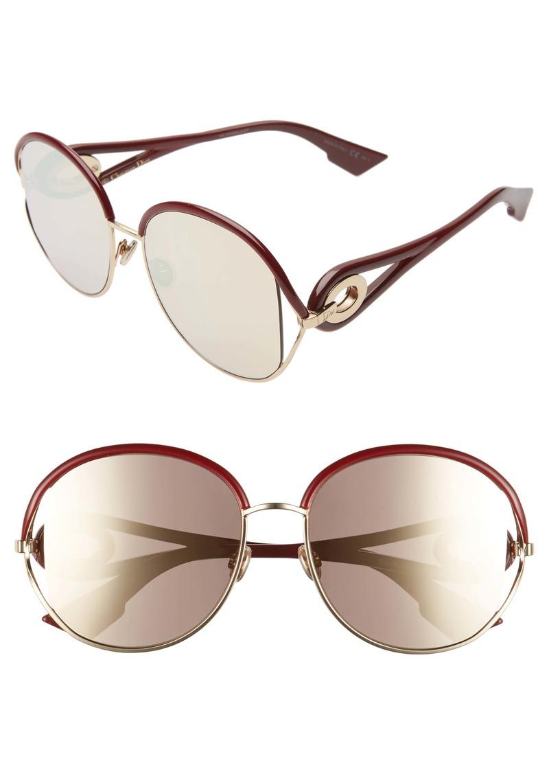 Christian Dior Dior Newvolutes 57mm Round Sunglasses