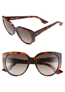 Christian Dior Dior 'Night' 55mm Cat Eye Sunglasses