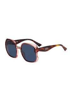 Christian Dior Dior Nuance Square Plastic Sunglasses