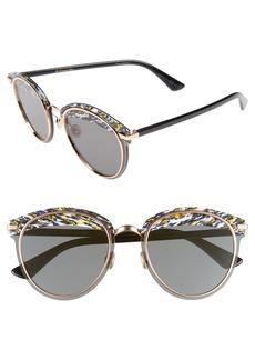 Christian Dior Dior Offset 62mm Round Sunglasses