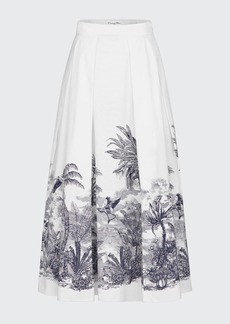 Christian Dior Dior Printed Cotton Skirt