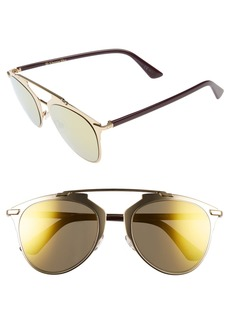 Dior Reflected 52mm Brow Bar Sunglasses