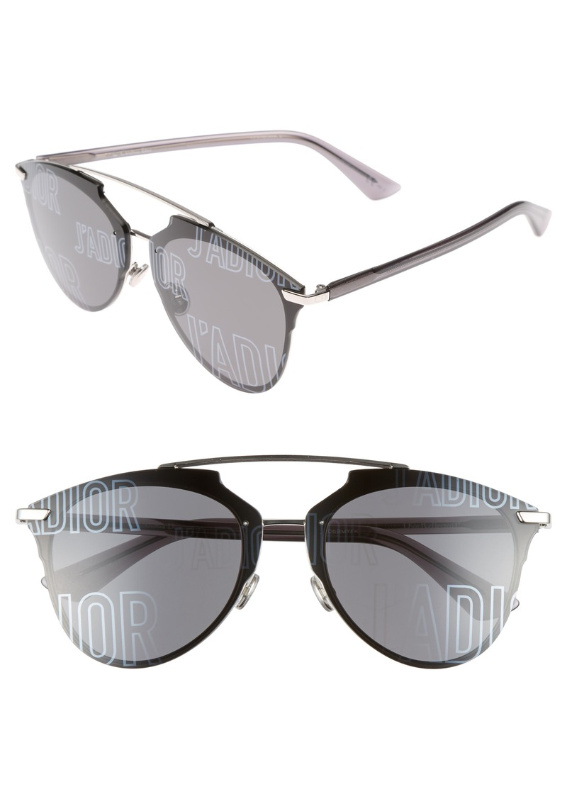 346c1f0542 Christian Dior Dior Reflected Prism 63mm Oversize Mirrored Brow Bar  Sunglasses
