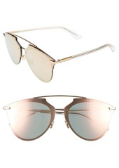 Christian Dior Dior Reflected Prism 63mm Oversize Mirrored Brow Bar Sunglasses