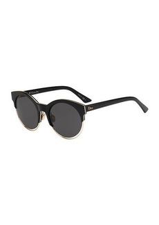 Sideral 1 Metallic-Trim Cat-Eye Sunglasses