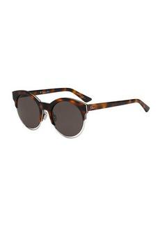 Christian Dior Sideral 1 Metallic-Trim Cat-Eye Sunglasses