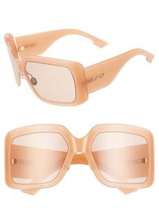 Christian Dior Dior So Light 61mm Flat Front Square Sunglasses