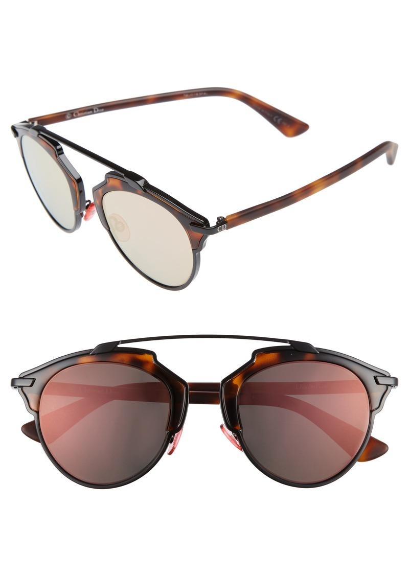Christian Dior Dior So Real 48mm Brow Bar Sunglasses