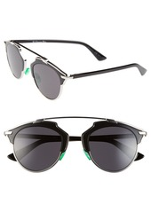 Christian Dior Dior So Real 48mm Brow Bar Sunglasses
