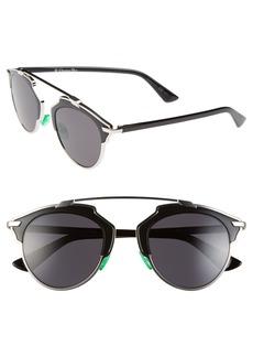 Dior So Real 48mm Brow Bar Sunglasses