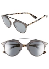 Christian Dior Dior So Real 48mm Round Brow Bar Sunglasses