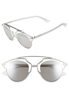 Dior So Real 48mm Round Brow Bar Sunglasses