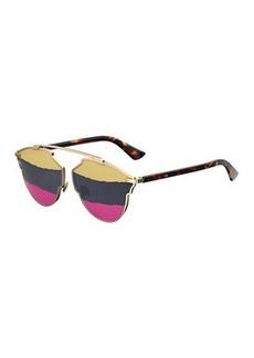 Christian Dior So Real Mirrored Rip Sunglasses