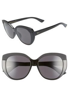 Christian Dior Dior Soft 55mm Cat Eye Sunglasses