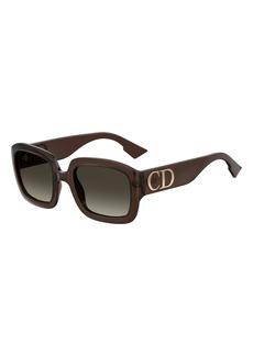 6a9612b151 Christian Dior Dior Square Sunglasses w/ Oversized Logo Temples