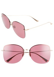 Christian Dior Dior Stell 62mm Special Fit Oversize Rimless Sunglasses