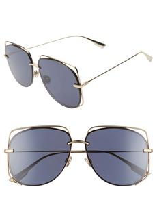 Christian Dior Dior Stellair 61mm Aviator Sunglasses
