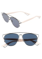 Christian Dior Dior Technologic 57mm Brow Bar Sunglasses
