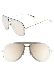 Christian Dior Dior Ultime1 57mm Aviator Sunglasses