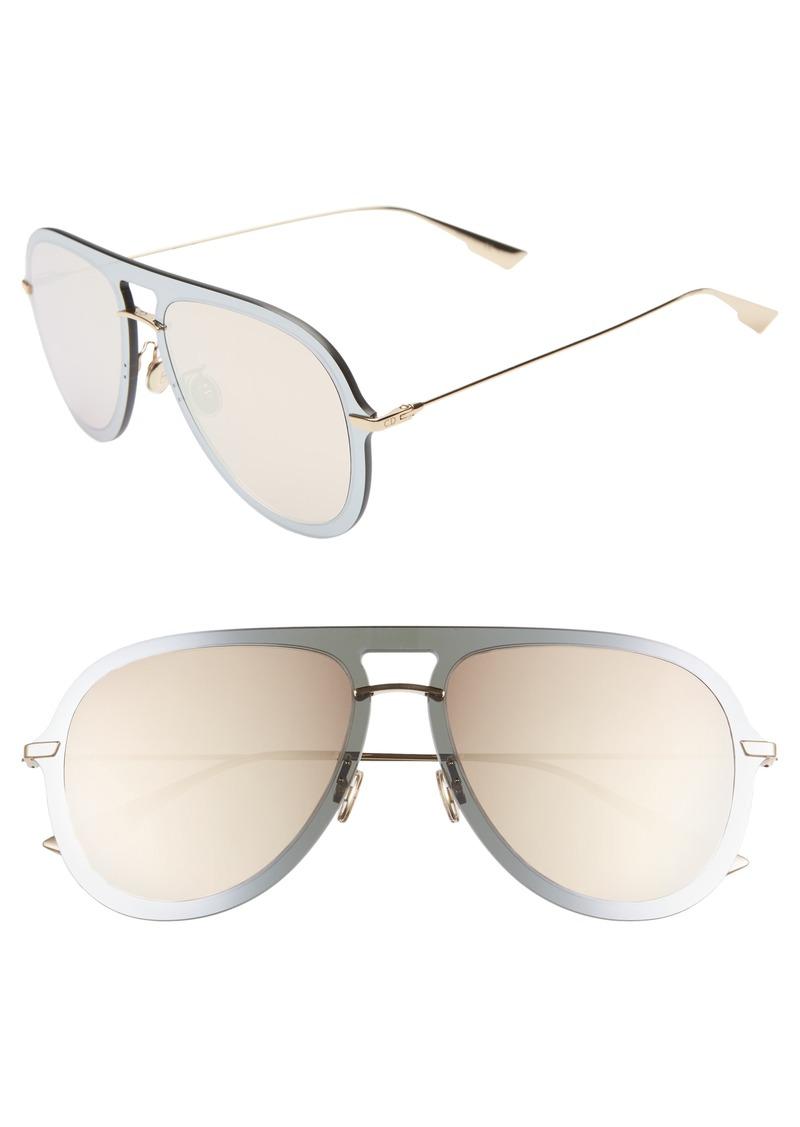 Christian Dior Dior Ultime1 57mm Aviator Sunglasses
