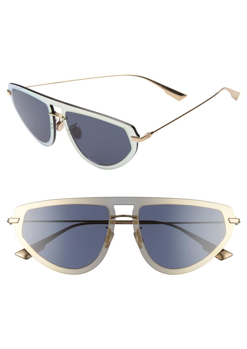 Christian Dior Dior Ultime2 56mm Aviator Sunglasses