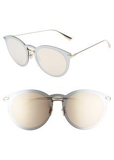 Christian Dior Dior UltimeF 53mm Round Aviator Sunglasses