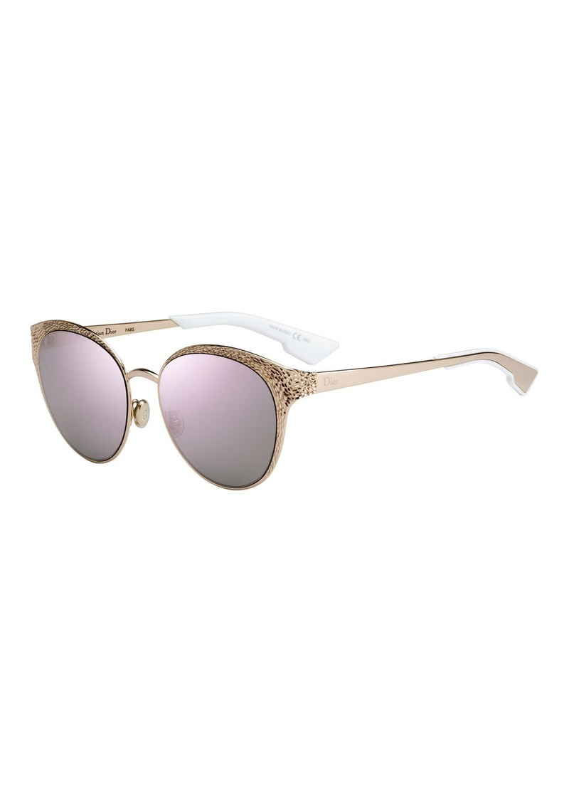 f0429d06b5 Christian Dior Dior Unique S Round Mirrored Metal Sunglasses Now  465.00
