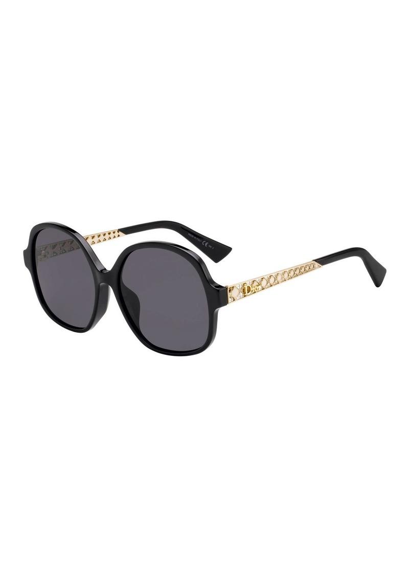Christian Dior Diorama Cannage-Temple Sunglasses Sunglasses