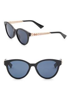 Christian Dior Diorama7 52MM Mirrored Round Sunglasses