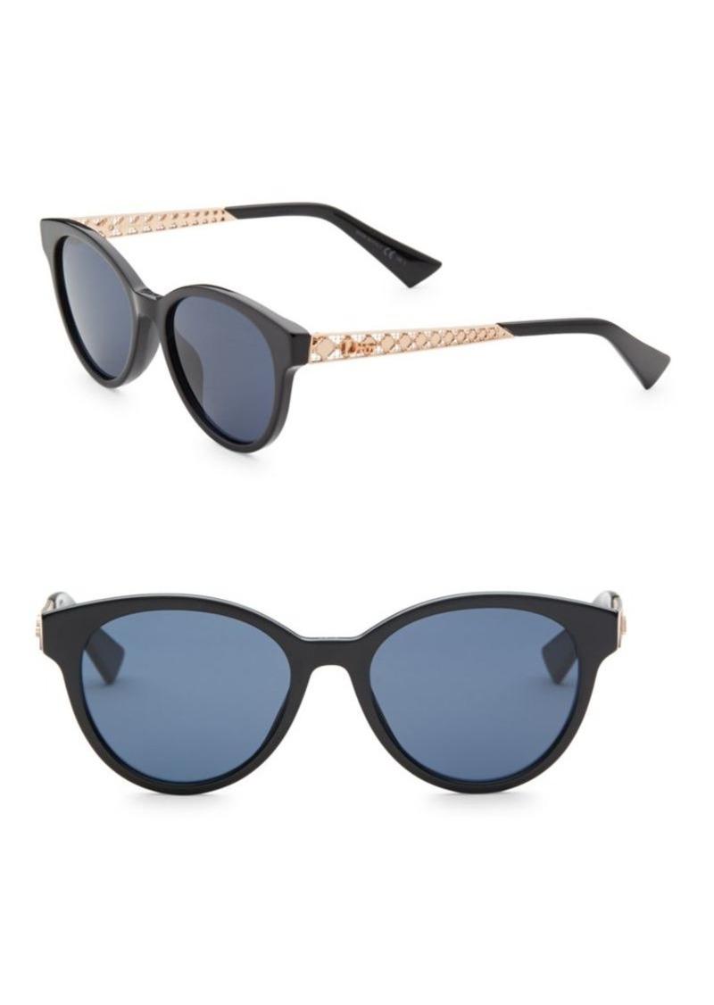 20862a297d77 Christian Dior Diorama7 52MM Mirrored Round Sunglasses