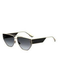 Christian Dior DiorClan2 Metal Rectangle Sunglasses