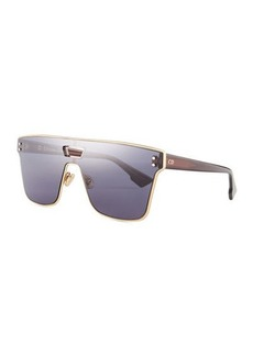 Christian Dior Diorizon Mirrored Shield Sunglasses