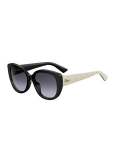 Christian Dior DiorLady1 Oversized Cannage Cat-Eye Sunglasses