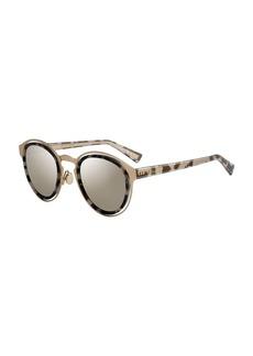 Christian Dior DiorObscure Titanium Round Sunglasses