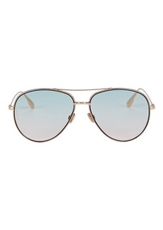 Christian Dior DiorSociety Aviator Sunglasses