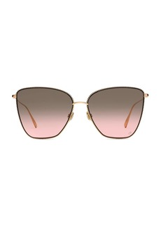 Christian Dior DiorSociety1 60MM Butterfly Sunglasses
