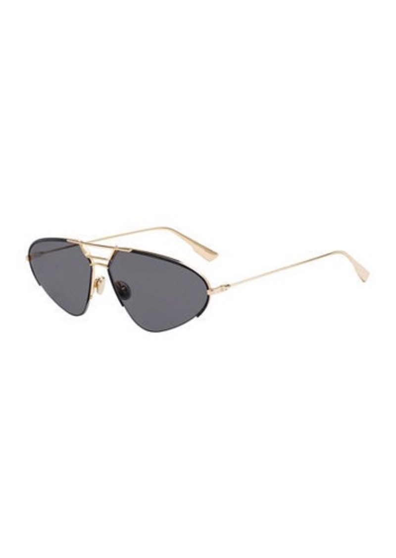 Christian Dior DiorStellaire5 Oval Metal Sunglasses
