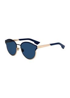 Christian Dior DiorSymmetrics Round Metal Sunglasses