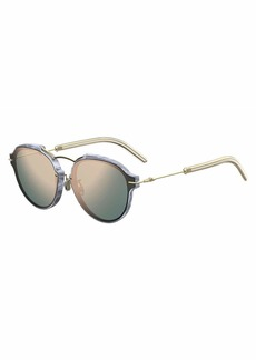 Christian Dior Eclat Notched Mirrored Sunglasses