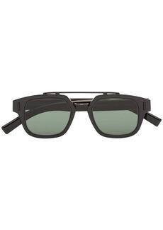 Christian Dior black and green Fraction 1 double-bridge sunglasses