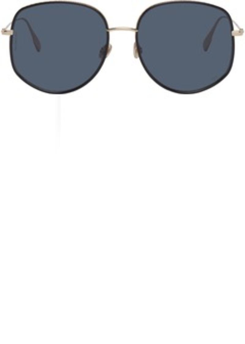 Christian Dior Gold & Black DiorByDior2 Sunglasses