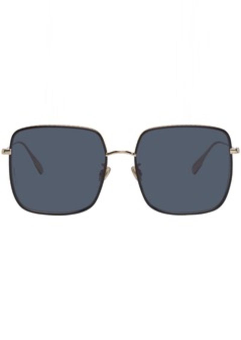 Christian Dior Gold & Black DiorByDior3F Sunglasses