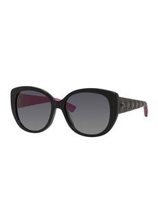 Christian Dior Lady 1 Oversized Cat-Eye Sunglasses