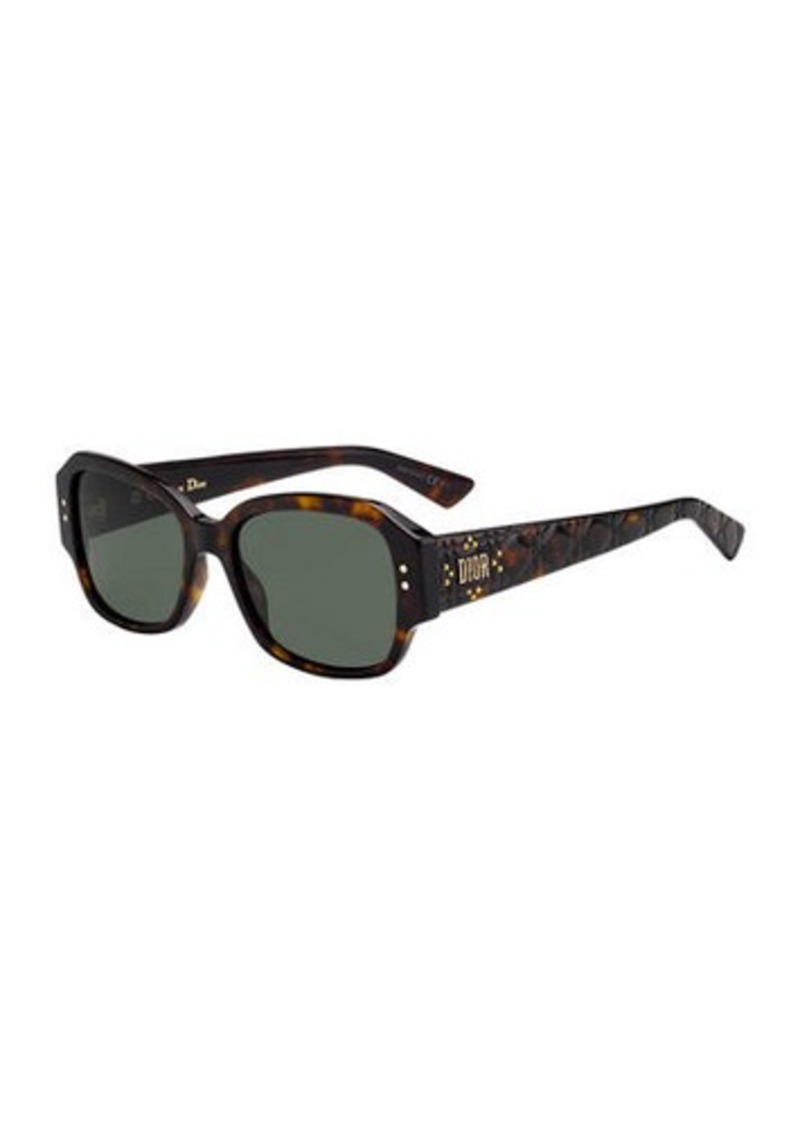 Christian Dior Lady Dior Studs Rectangle Sunglasses