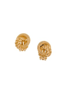 Christian Dior love knot clip-on earrings