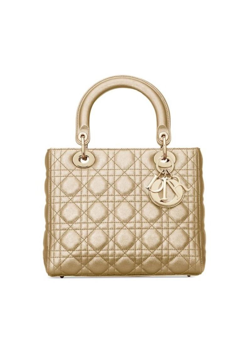 Dior Medium Cannage Metallic Leather Lady Bag