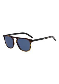 Christian Dior Men's Black Flat-Top Plastic Sunglasses