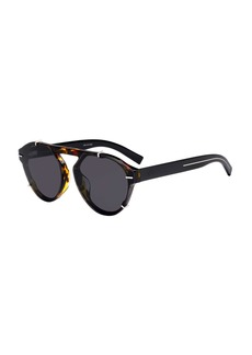 Christian Dior Men's BLACK254FS Round Sunglasses