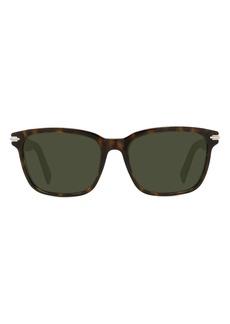 Christian Dior Men's Dior Diorblacksuit 57mm Square Sunglasses - Dark Havana / Green
